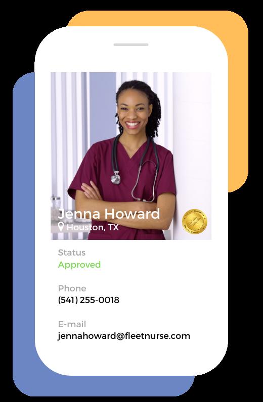 Nurse Profile Mobile Screen